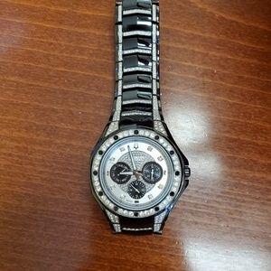 Mens Bulova diamond watch